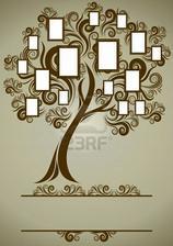 Budou 2 stromy, místo rámečků budou knoflíky s jmény přítomných hostů - vysvětlení, kdo má jakou barvu.