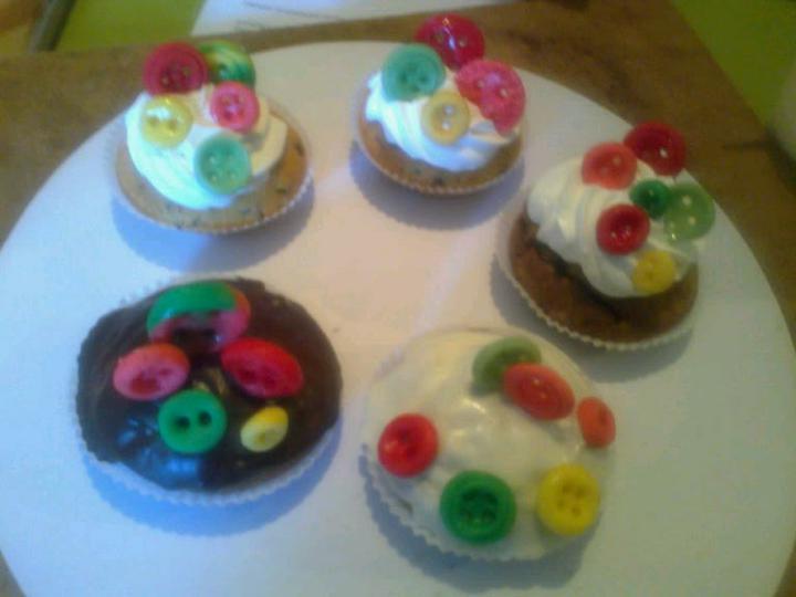 Co už mám - Muffiny s knoflíky :-)