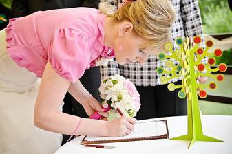 Nevěstin podpis.