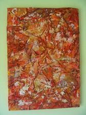Oranžovo-zlatý so štruktúrou