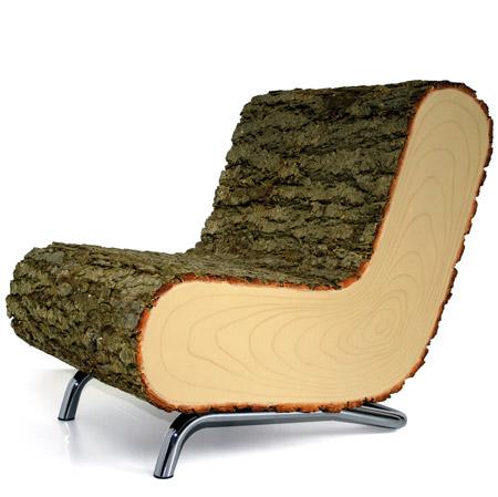 Vynálezy - drevené sedenie