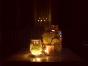 podzimní svícny - velká rychlovka : ) a zkouška nového svícnu do okna z tchiba