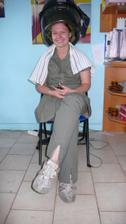 ráno u kadeřníka 7. 7. 2007