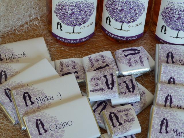 Vína, minivína, čokoládky s originální etiketou - Obrázek č. 10