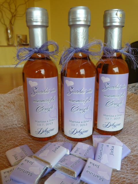 Vína, minivína, čokoládky s originální etiketou - Obrázek č. 12