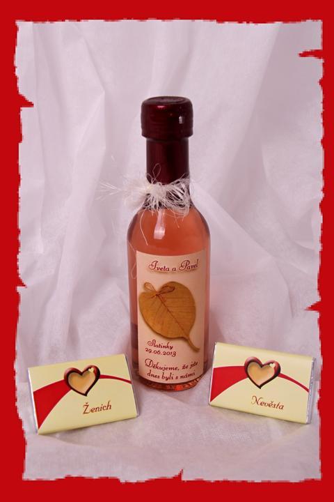 Vína, minivína, čokoládky s originální etiketou - Obrázek č. 23