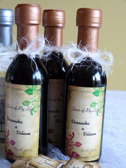 Vína, minivína, čokoládky s originální etiketou - Obrázek č. 8
