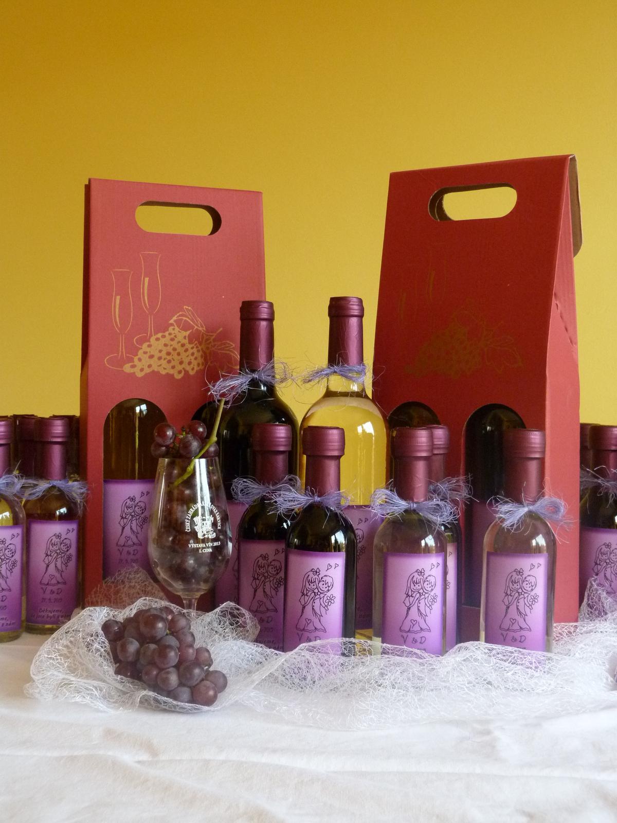 Vína, minivína, čokoládky s originální etiketou - Obrázek č. 2