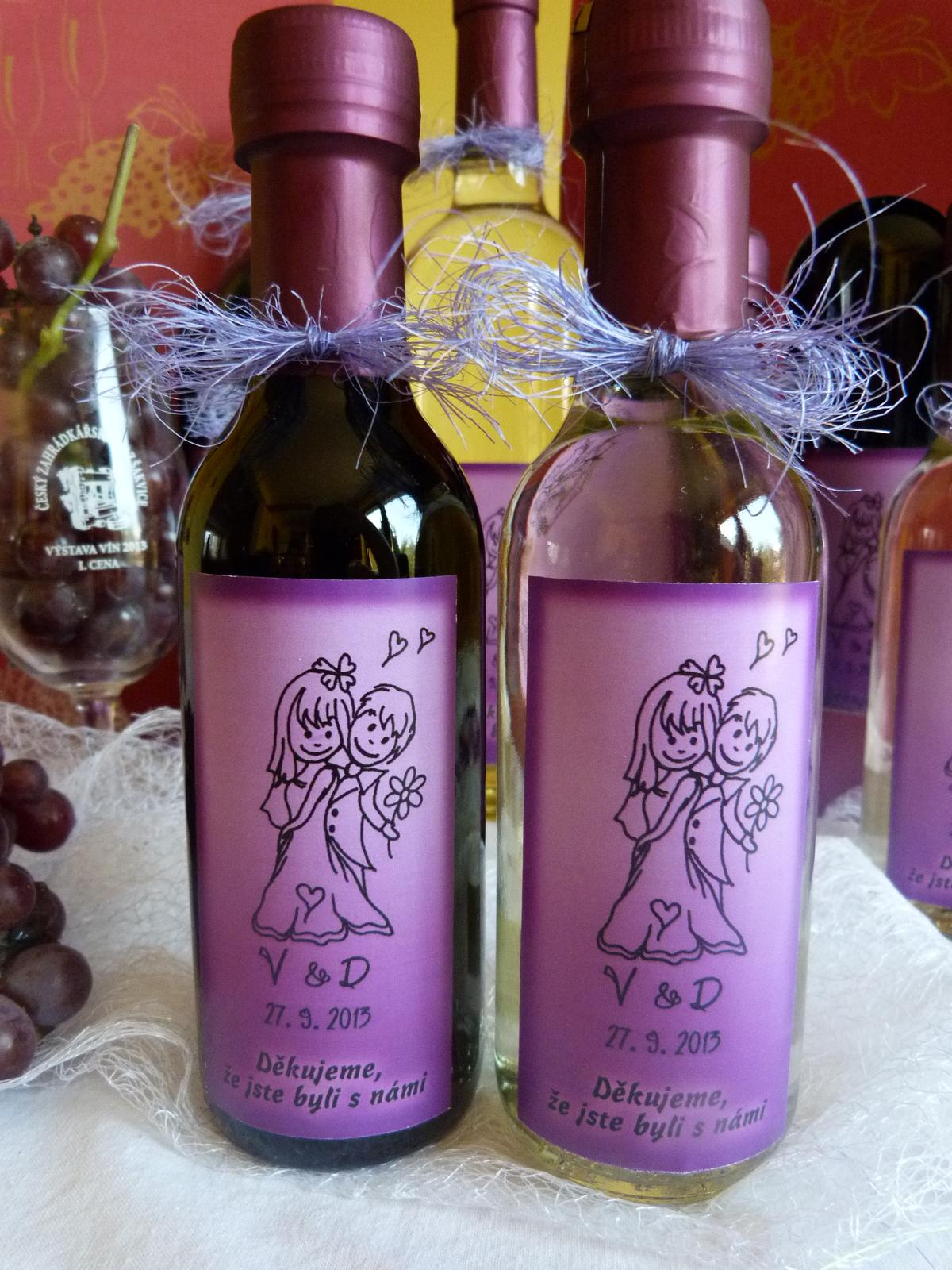 Vína, minivína, čokoládky s originální etiketou - Obrázek č. 3