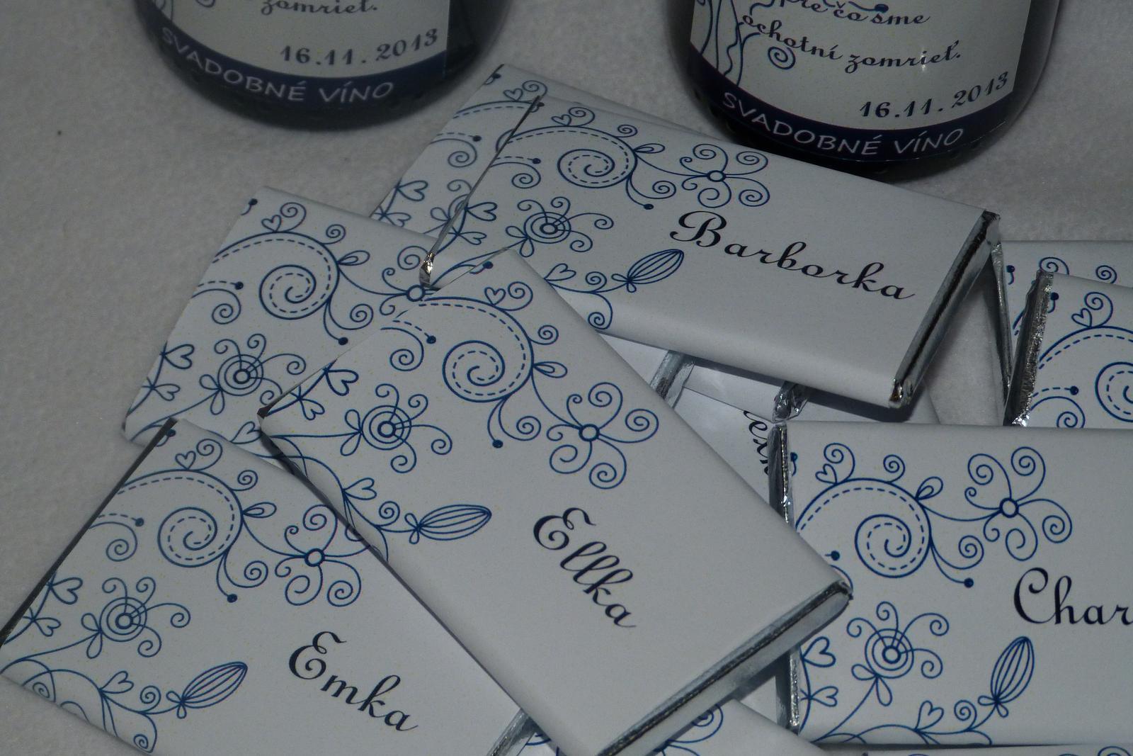 Vína, minivína, čokoládky s originální etiketou - Obrázek č. 13