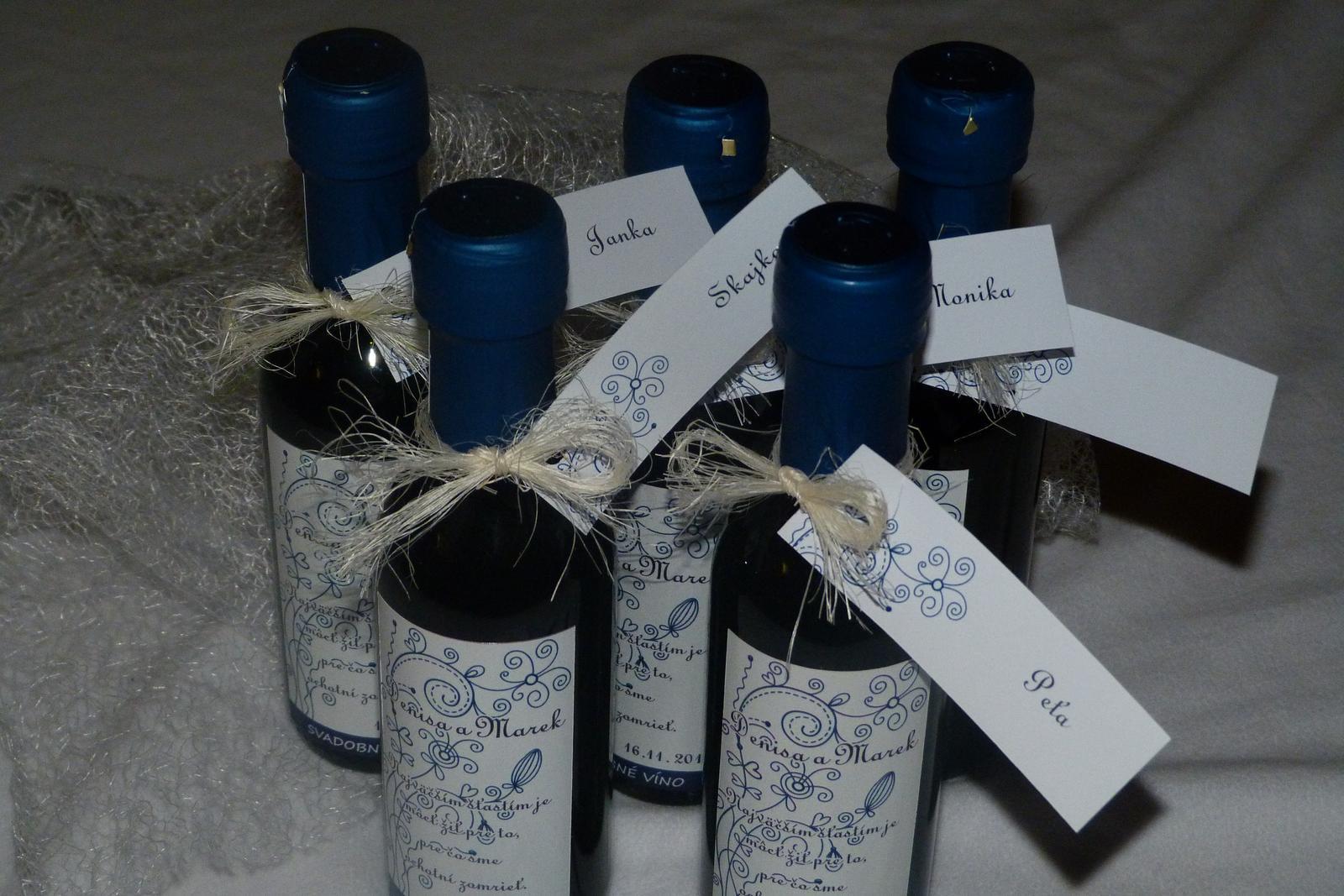Vína, minivína, čokoládky s originální etiketou - Obrázek č. 14