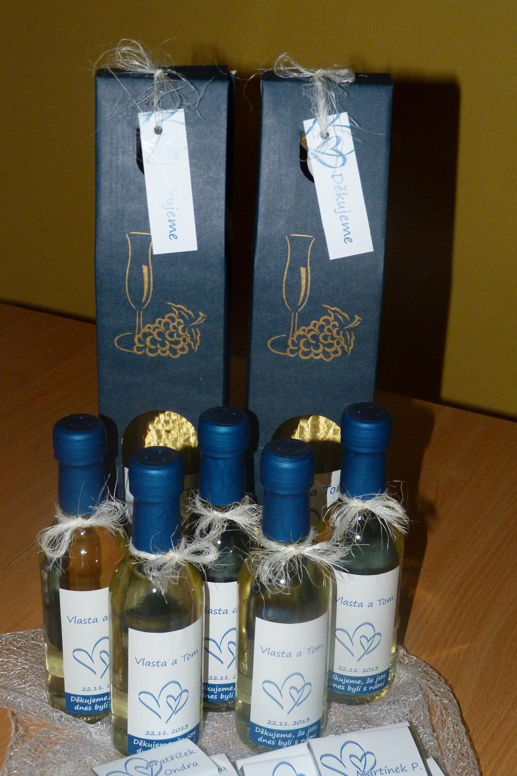 Vína, minivína, čokoládky s originální etiketou - Obrázek č. 17