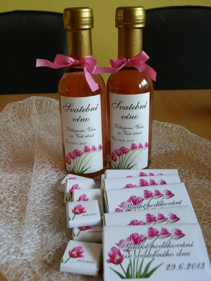Vína, minivína, čokoládky s originální etiketou - Obrázek č. 34