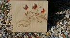 Originální luxusní dřevěná kniha hostů s gravurou ,