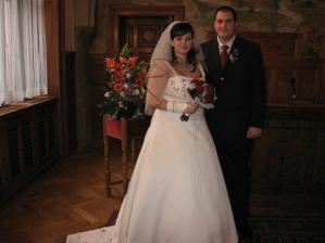 a tady už novomanželé
