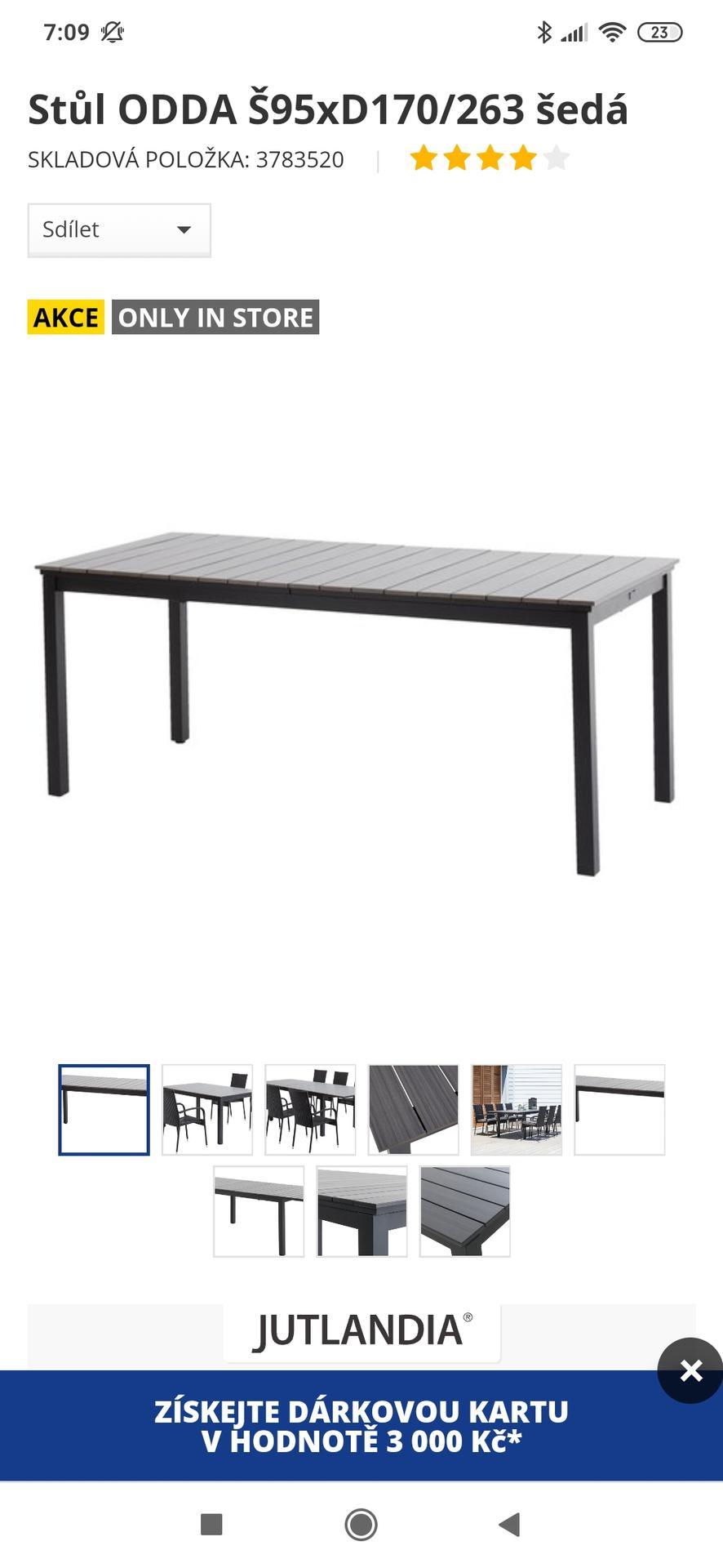 Nemáte náhodou někdo tento stůl na terasu z Jysku? 🌞 - Obrázek č. 1