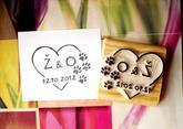 Svatební s tlapičkami 1... Omyvatelné razítko, 4,1 x 3,3 cm, 199,-