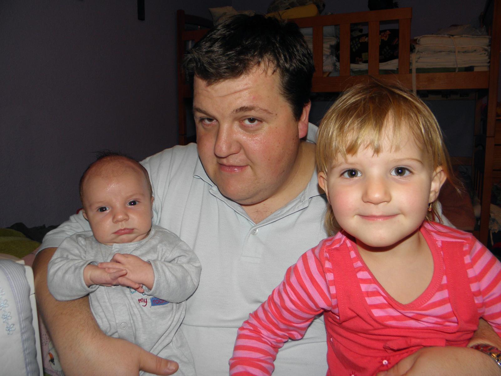 Veronika Ondrušová{{_AND_}}Andrej Klimo - tatko a jeho detičky :D