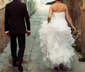 Biele svadobné šaty veľkosť 8-12, 38