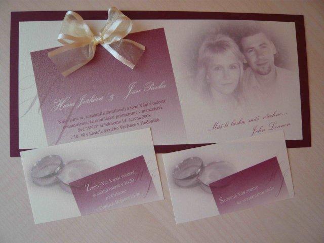 Naše svatební oznámení. Jsme z něj nadšení, dělala firma Disgrafik v Hodoníně. Moc díky!!