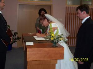 podpos nevěsty