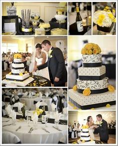 Cierno bielo zlta svadba :-) - Obrázok č. 3