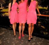 Ružové šaty pre družičky 2 ks, S
