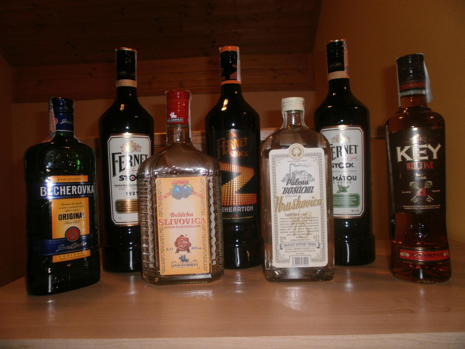 Čo už máme - cca kompletne alkoholove zlozenie :)