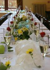 výzdoba sálu, kde bude hostina - z jiné svatby
