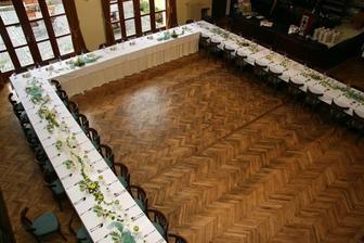 Celkový pohled, ale my budeme mít tabuli tak poloviční - alespoň bude prostor na tancování :-)