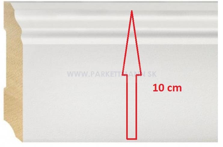 Vysoké biele parketové lišty - Lišta ALTBERLIN