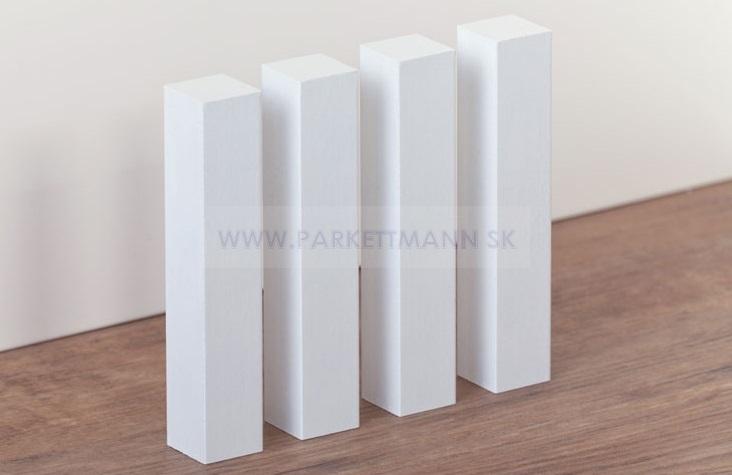 Vysoké biele parketové lišty - Ukončovacie a rohové hranolčeky