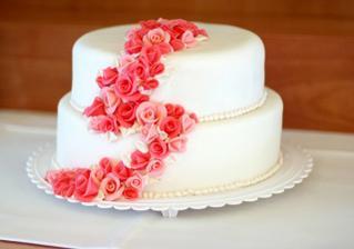 Svatební dort, byl moc dobrý.