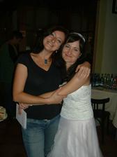 Na party s kamarádkou Lindou.