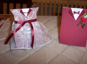 jmenovky pro nevěstu a ženicha. vlastní výroba:-)