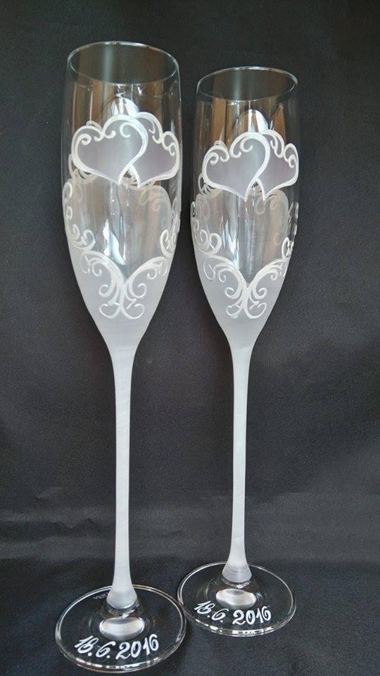 Svadobné poháre - Svadobné poháre, pár 38€