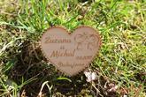 magnetky z dreva ako poďakovania svadobčanom