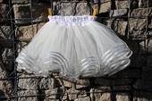 Tylová sukně stříbrná,