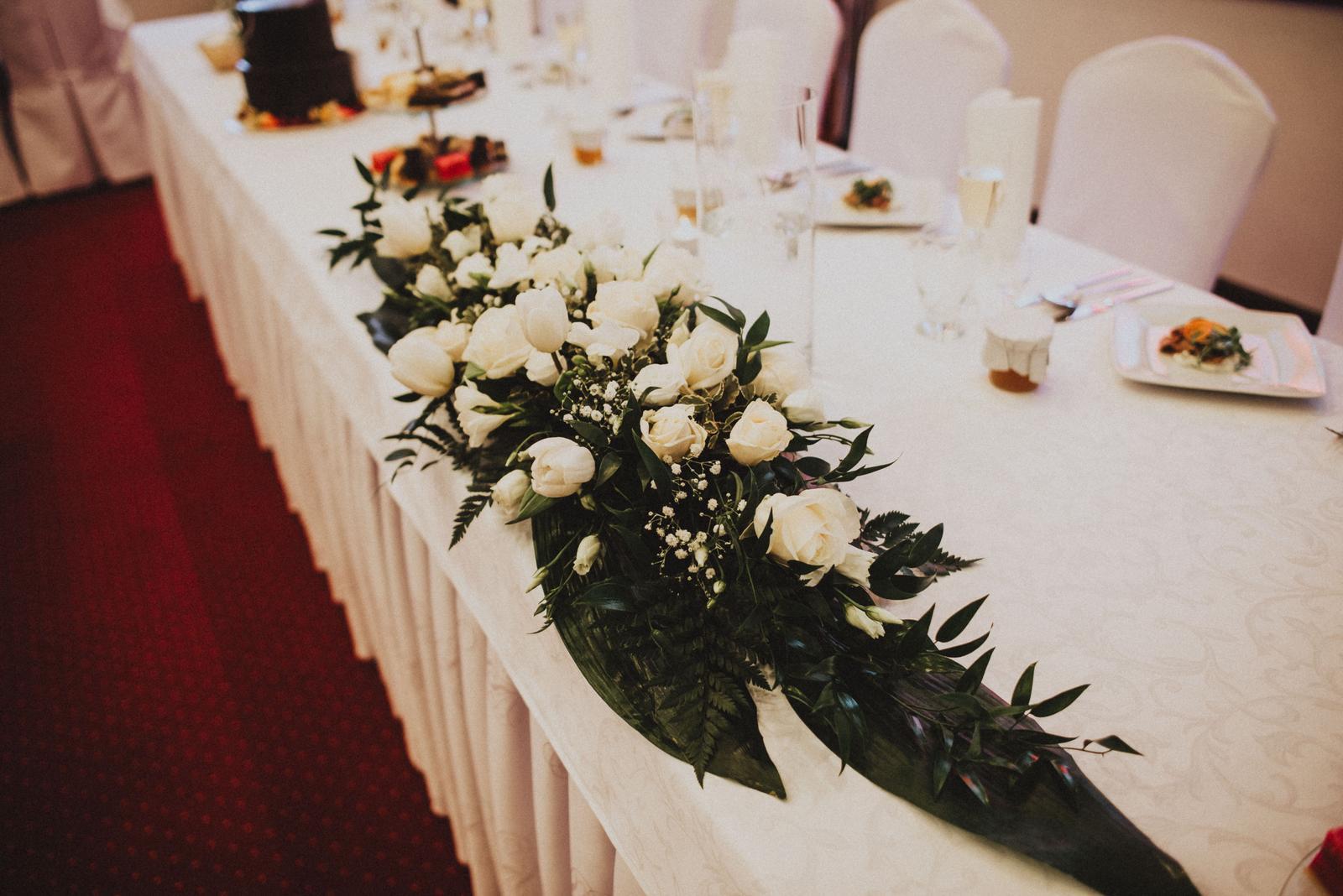 Tatranská zimná svadba - živé kvety