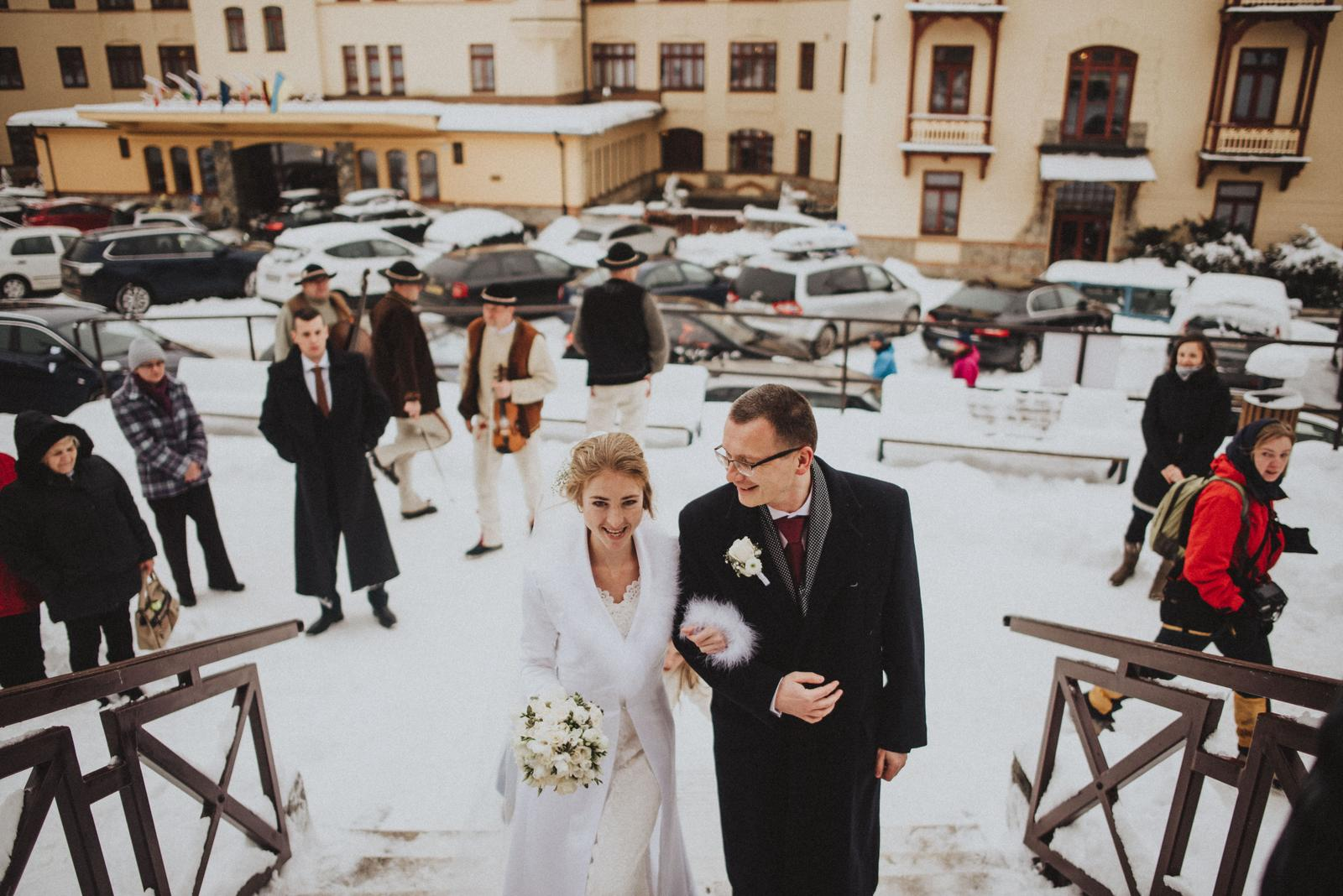 Tatranská zimná svadba - Starý Smokovec, starý kostolík