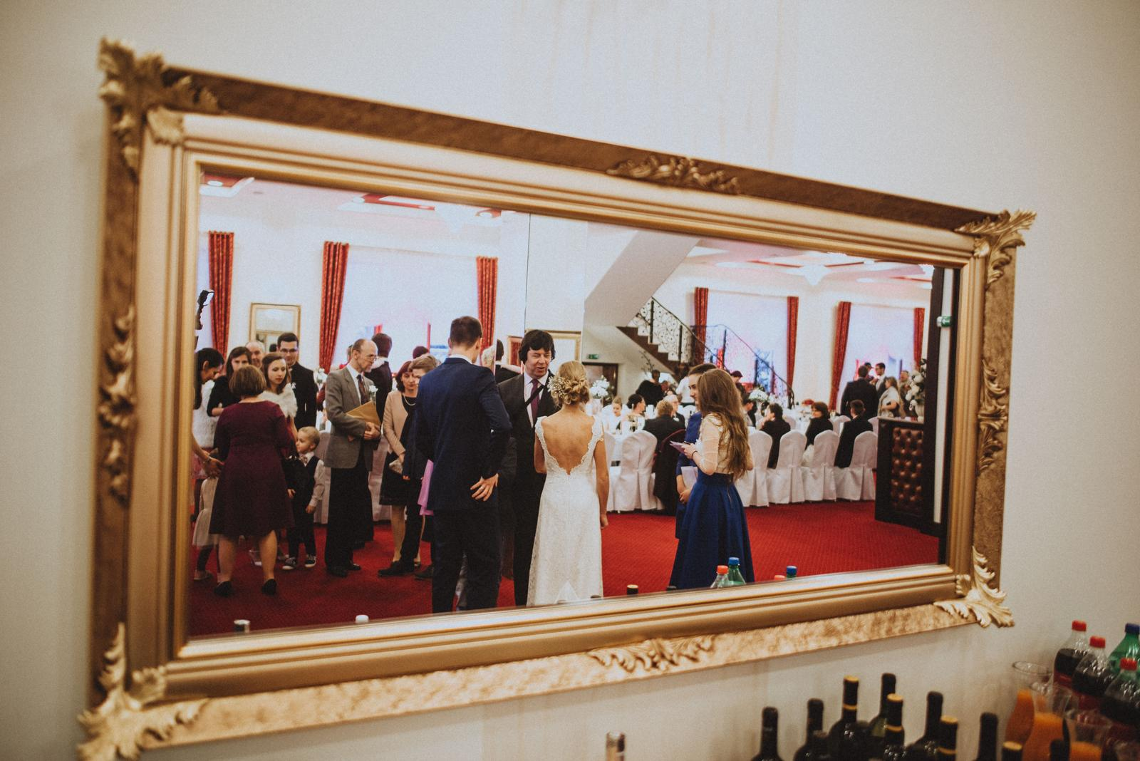 Tatranská zimná svadba - fotografa uajalo fotenie zrkadlovo