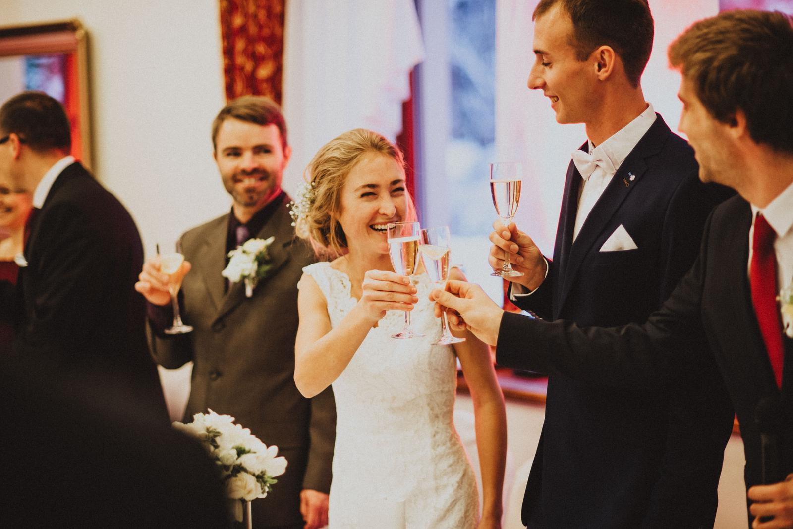 Tatranská zimná svadba - nazdravie