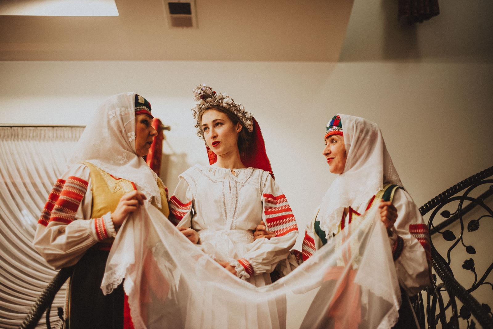 Tatranská zimná svadba - čepčenie