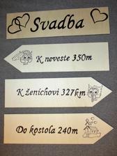 Svadobné tabule, aby naši hostia nezablúdili :)