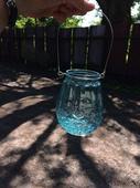 Lucerničky/vázy k zavěšení modré - 10 ks,
