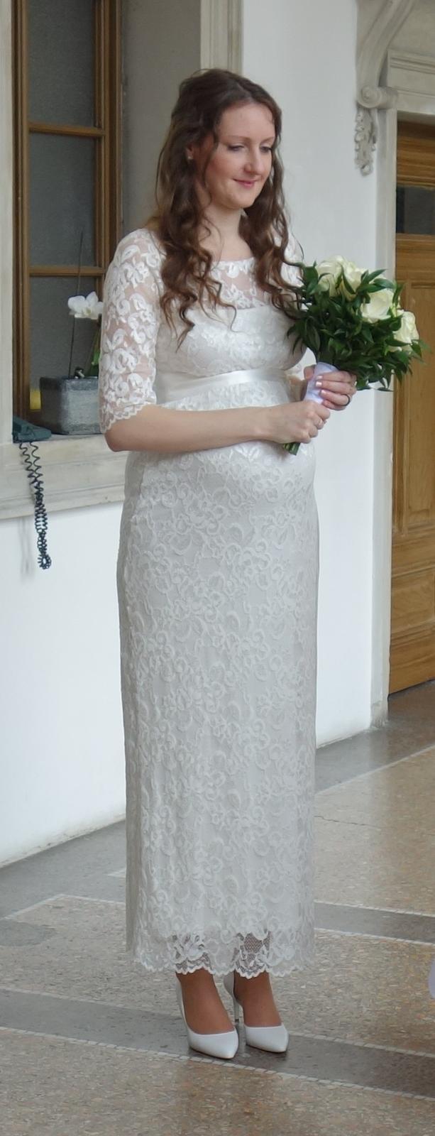 Těhotenské svatební šaty Tiffany Rose - 38/40 - Obrázek č. 2