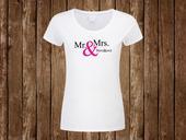 Svatební tričko Mr. & Mrs. + vlastní příjmení,