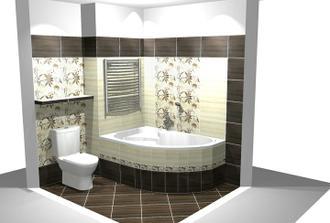 3D návrh naší koupelny