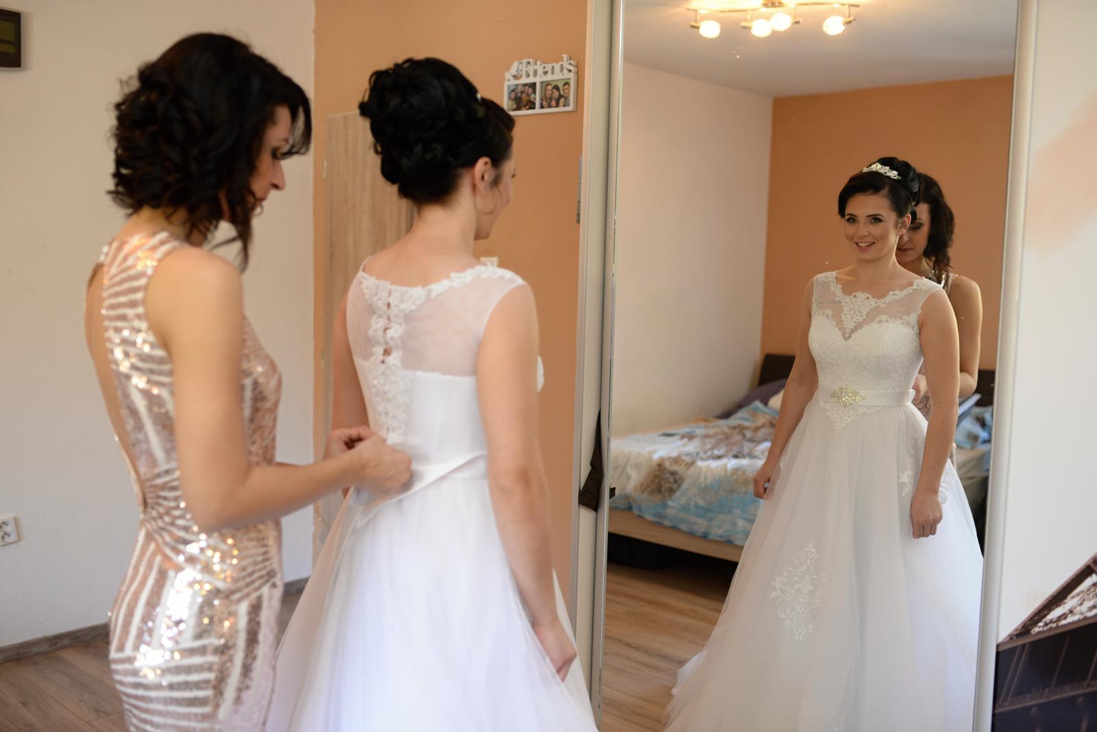 Svadobné šaty 36-38 - Obrázok č. 4