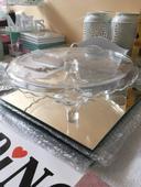 Skleněný dortový podnos,